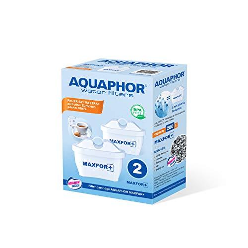 AQUAPHOR MAXFOR+ Pack de 2 Cartouches filtrantes en Plastique Blanc 200 L
