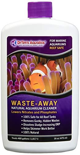 Dr. Tim's Aquatics Reef Waste-Away Sludge Busting Bacteria – For Reef, Nano, Seahorse Aquaria, Fish Tanks, Aquariums – Unclogs, Cleans Gravel Beds, Removes Hidden Wastes – 100% Natural – 16 Oz.