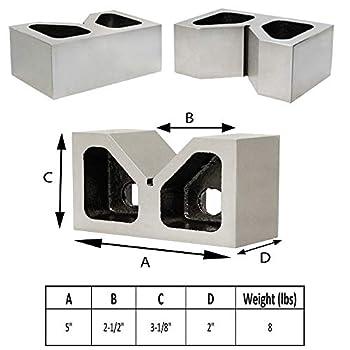 5  CAST IRON PAIR JUMBO V-BLOCKS