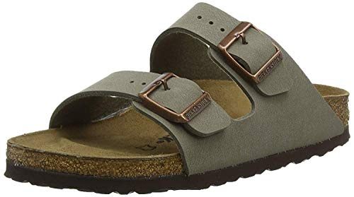 Birkenstock Unisex Arizona Stone Birkibuc Sandals - 38 R EU (US Men EU's 5-5.5, US Women EU's 7-7.5)