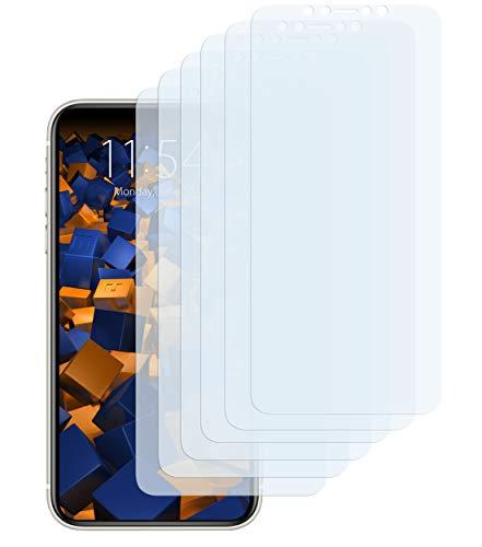 mumbi Schutzfolie kompatibel mit iPhone 11 Pro Max Folie klar, Displayschutzfolie (6X)