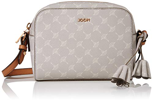 Joop! Damen Cortina Cloe Shoulderbag Shz Schultertasche, Grau (lightgrey), 6x15x21 cm