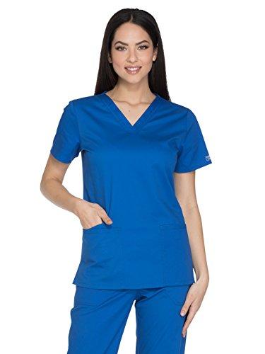 Workwear Core Stretch Women Scrubs Top V-Neck Plus Size WW630, 2XL, Royal