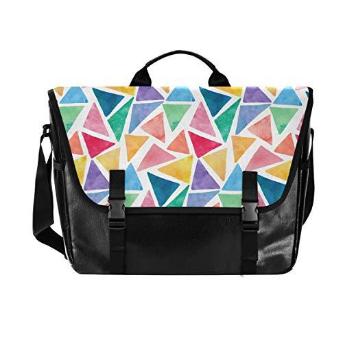 Dreieckige Schultertasche für Damen und Herren, aus Segeltuch, für iPad, Kindle,...