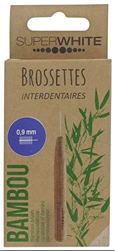 Spazzole interdentali Superwhite Bambù, 0,9 mm x 8 scovolini bi ADS