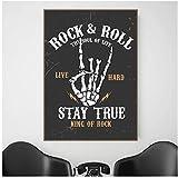 A&D Vintage Poster Und Drucke Rock'n'Roll Bleiben Wahre