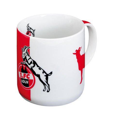 Brauns 1. FC Köln Porzellanbecher  Rot-Weiss, weiss-rot, 30180