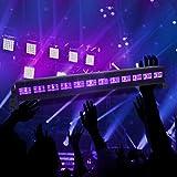 Eleganted 36W UV Luz LED, Lámpara de Luz Negra IP66 Impermeable Barra Ultravioleta con Interruptor, Cable de Alimentación de 3.1M Iluminación Escenario para Bar Discoteca Disco Halloween