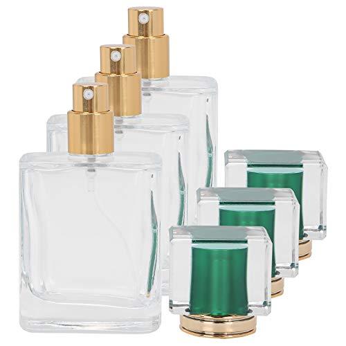 Envase de maquillaje Botellas cuadradas de 50 ml para viajes para loción para el cuidado de la piel(green)