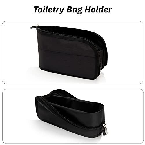 Small Toiletry Bag, Fourthly Water Resistant Toiletries Bags for Men Nylon Travel Toiletry Organizer Mini Makeup Bags for Women, black