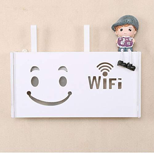 1pcs Wireless Router WiFi Caja De Madera-plástico Estante De La Pared Que Cuelga Junta Soporte De Conector Caja De Almacenamiento Organizador