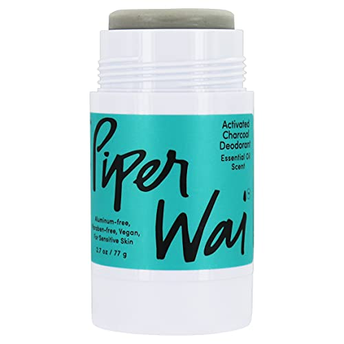 PiperWai, Natural Activated Charcoal Deodorant,...