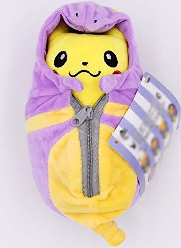 Pikachu Knuffels Poppen Cosplay Charizard Ekans Eevee Slaapzak Soft Knuffel Pop Voor Kerstcadeau Gratis Verzending, Ekans open ogen