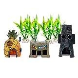 QLGCJ Juego De Decoración De Acuario De Resina, Accesorios De Acuario, Peces Pequeños, Camarones, Tortugas, Evita Las Plantas De La Cueva (01)