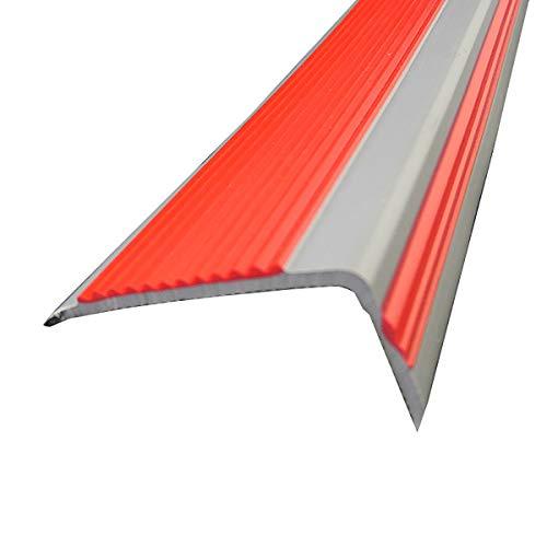 Tira de umbral 10 PAQUETE 1.5M Longitud L Forma PVC Stair Anti Deslizamiento Rose 50x20mm Ángulo Eje De Paso Para Escuelas Escaleras De Interior Para Exteriores Nariz de borde de escalera antideslizan