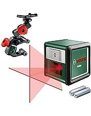 Bosch kruislijnlaser Quigo met universele klem (3e generatie, bereik: 10 m, in doos)