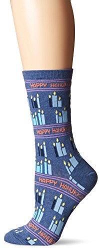 Hot Sox Happy Hanukkah Crew Sock