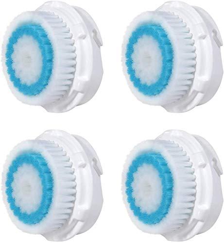 Ersatzköpfe für Facial-Bürste, kompatibel mit Bürsten Mia 1, 2, 3 (Aria), Smart Profile, Alpha Fit, Plus, Sonic Radiance – 4 Stück