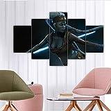 IKDBMUE Enmarcados para Decoración de Pared Aayla Secura 5 Piezas Pictures Posters Livin Room Paintings Modular
