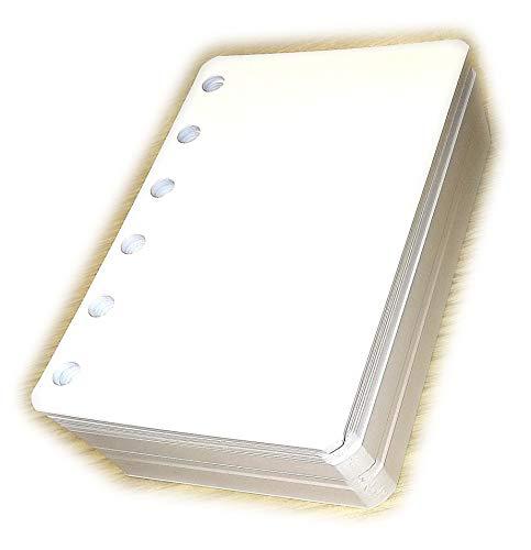 Nachfüllung für Notebook A7 pocket mini 8x12cm - 6-fach gelocht - 200 Blatt, 120g/m² - ivory - liniert 7mm