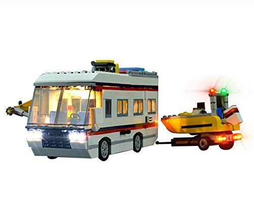 QZPM Conjunto De Luces (Creador Experto The Vacation Getaways) Modelo De Construcción De Bloques Kit De Luz LED Compatible con Lego 31052 (NO Incluido En El Modelo)