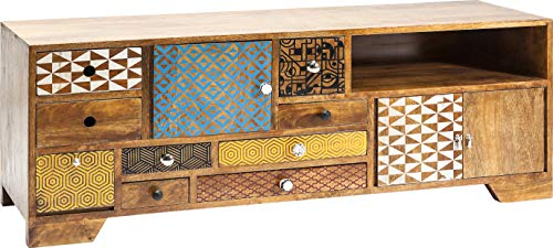 Kare Design TV Board Soleil, modernes Lowboard mit Kabeldurchführung, Hellbraun (H/B/T) 45x125x40cm