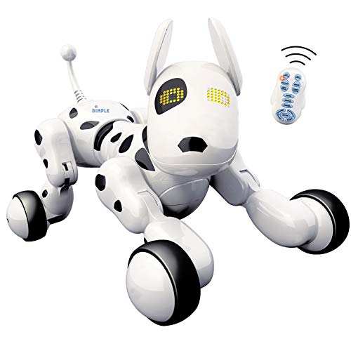 Dimple Interactive Robot Puppy With Wireless Remote Control RC Animal Dog Toy That Sings, Dances, Eye Mode, Speaks for Boys/Girls, Perfect Gift for Kids.