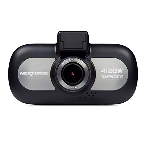 Nextbase 412GW - Full 1440p QUAD HD In-Car Dash Camera DVR - 140° Viewing Angle – WiFi and GPS - Black…