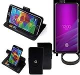 K-S-Trade® Case Schutz Hülle Für Allview Soul X6 Xtreme + Bumper Handyhülle Flipcase Smartphone Cover Handy Schutz Tasche Walletcase Schwarz (1x)