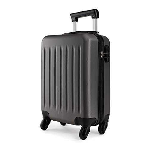 Kono 19 inch Carry On Luggage Lightweight Hard Shell ABS 4 Wheel Spinner Suitcase (Grey)