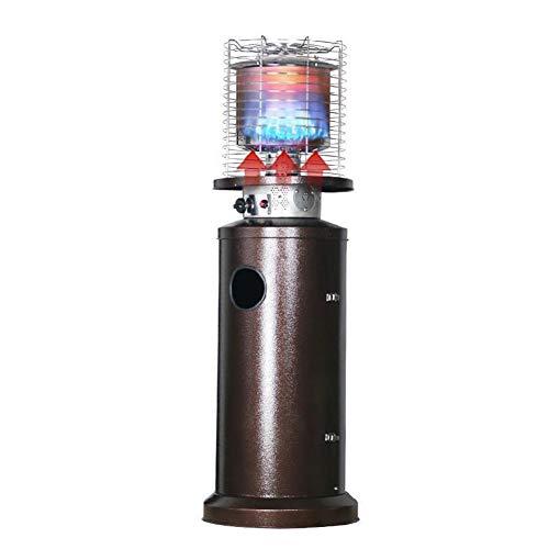 DZWJ Calentador de Patio al Aire Libre, Calentador de Mesa de propano al Aire Libre de Acero Inoxidable Calentador Interior Independiente
