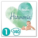 Pampers Couches Harmonie Taille 1 (2-5kg) 0% de compromis, 100%...