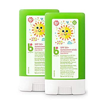 Babyganics SPF 50 Travel Size Baby Sunscreen Stick UVA UVB Protection | Water Resistant |Non Allergenic 2 Pack