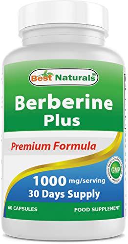 Best Naturals Berberine Plus with Berberine HCl, Vitamin C and Zinc, 1000 mg, 60 Capsules