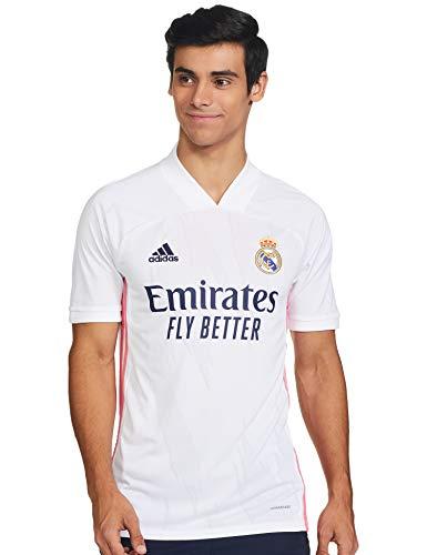 Adidas Real Madrid Temporada 2020/21 Camiseta Primera Equipación Oficial, Unisex, Blanco, L