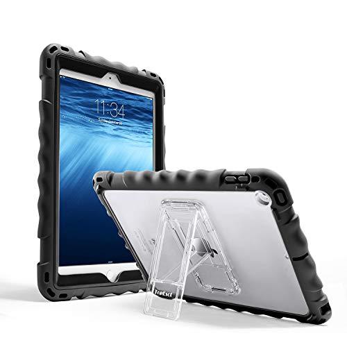 TOPESCT iPad 9.7 Case voor iPad 6e/5e Heavy Duty Case, Premium Food-grade Silicone Lichtgewicht Schokbestendig Stand Kids Vriendelijk, met een riem, Zwart