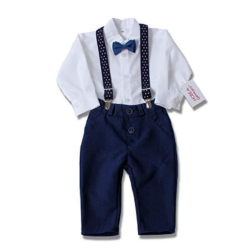 HOBEA-Germany Taufanzug Jungen, Taufkleidung Junge, Anzug Baby Junge für die Taufe für Babys und Kinder (74, Jonas)