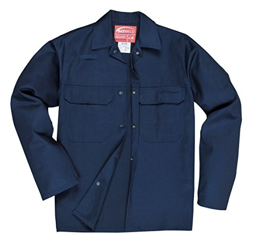 Portwest BIZ2NARXL Bizweld Jacket, Regular, Size: X-Large, Navy