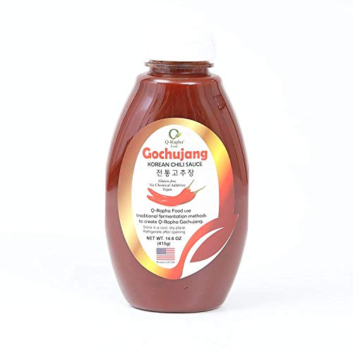 Q-Rapha Classic Korean Gochujang - GMO and Gluten free, Vegan - 14.6oz (Classic)