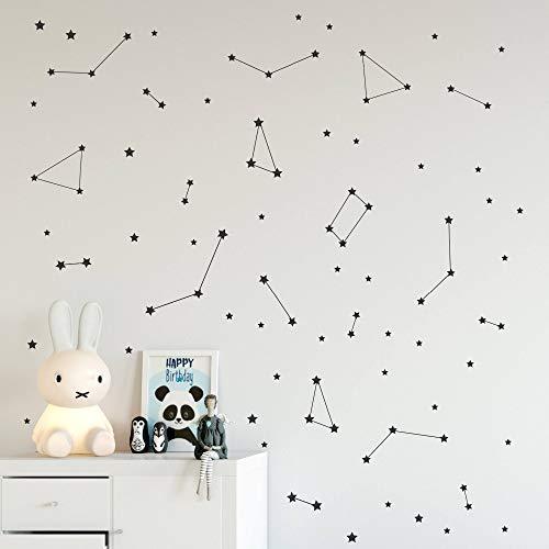 yaonuli Constellation Wall Decal kinderkamer beweegbare decoratie ruimte kinderkamer sticker sterrenbeeld astronomische kunst muurschildering