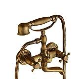 Antico Rubinetto per vasca da bagno con doccetta,Vasca da Bagno Miscelatore Monocomando Rubinetto per Doccia con Doccetta Incl. Supporto a Parete per Vasca