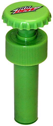 Jokari Mountain Dew Modern Logo Fizz Keeper Pump Cap Soda Bottle