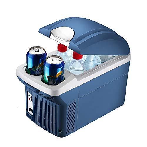 huihuijia AutomóVil Refrigerador Alta Capacidad 8L Congelador De Viaje Nevera Portatil para Coche, CamióN, Barco Y Autocaravana,12 V Y 220 V