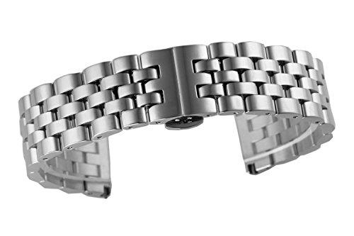 20mm jubilares reemplazos Correa de Lujo de Estilo Reloj de Metal Inoxidable sólido Flujo unidireccional de Tipo Pesado de Acero Inoxidable Recta Final