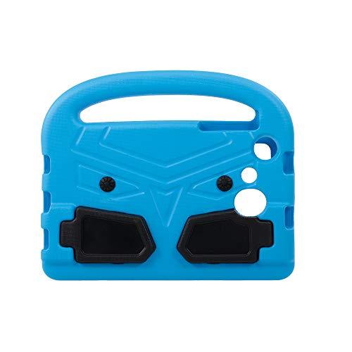 Fesjoy Funda EVA compatible con Samsung de 7 pulgadas, de silicona, antigolpes, con protector de pantalla, compatible con niños (azul)