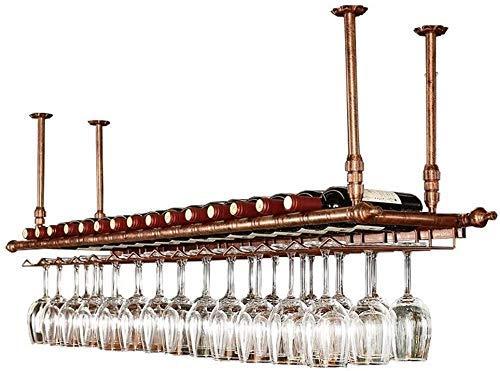 LYLSXY Estantes de Vino Estante de Vino de Techo de Altura Ajustable Porta Botellas de Vino Montado en la Pared Portavasos de Vino de Hierro de Metal Portavasos Portavasos de Vino Estante de Alenamie