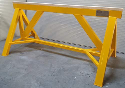 Caballetes Borriquetas obra materiales construccion Capacidad 10 toneladas. Medidas: 2000 mm x 1000 mm x 900 mm.