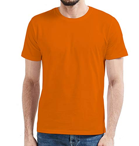 Miracle(Tm) Neon Color Wicking Sport Training T Shirt - Mens Orange Athletic High Visbility Adult Shirt (L)