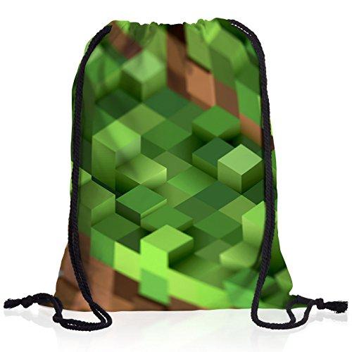 A.N.T. Mine Cube Sac à Dos Cordon gymsac Drawstring Bag Block dé Jeu vidéo Game