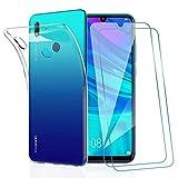 KEEPXYZ Coque Huawei P Smart 2019, avec Protection d'écran Verre Trempé pour Huawei P Smart 2019,...
